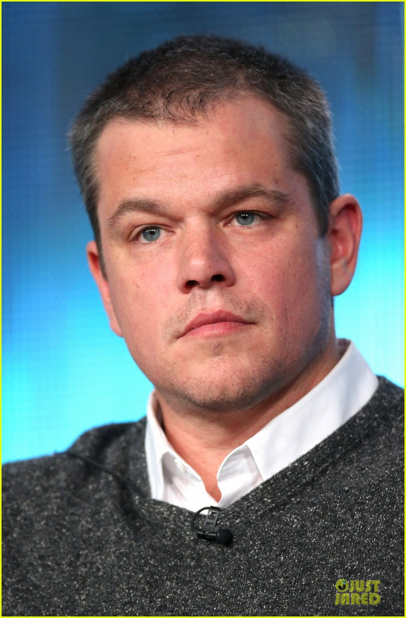 matt damon & michael douglas behind the candlebra tca panel 222784999