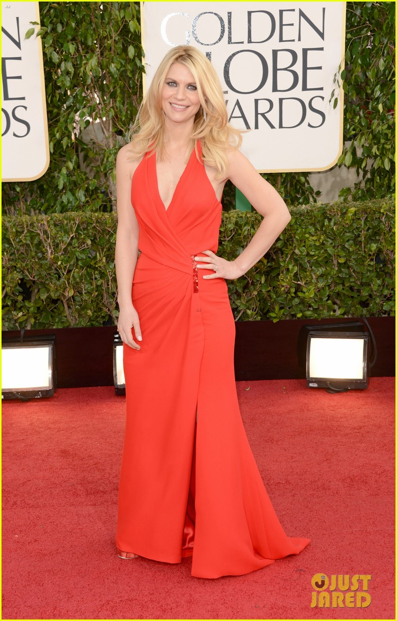 claire danes hugh dancy golden globes 2013 red carpet 032791208