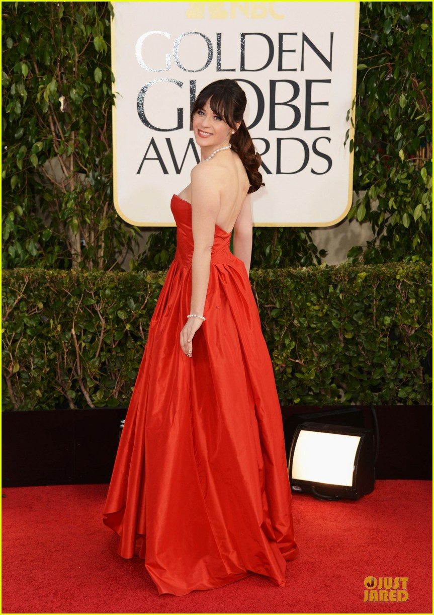 zooey deschanel golden glboes 2013 red carpet 032790863