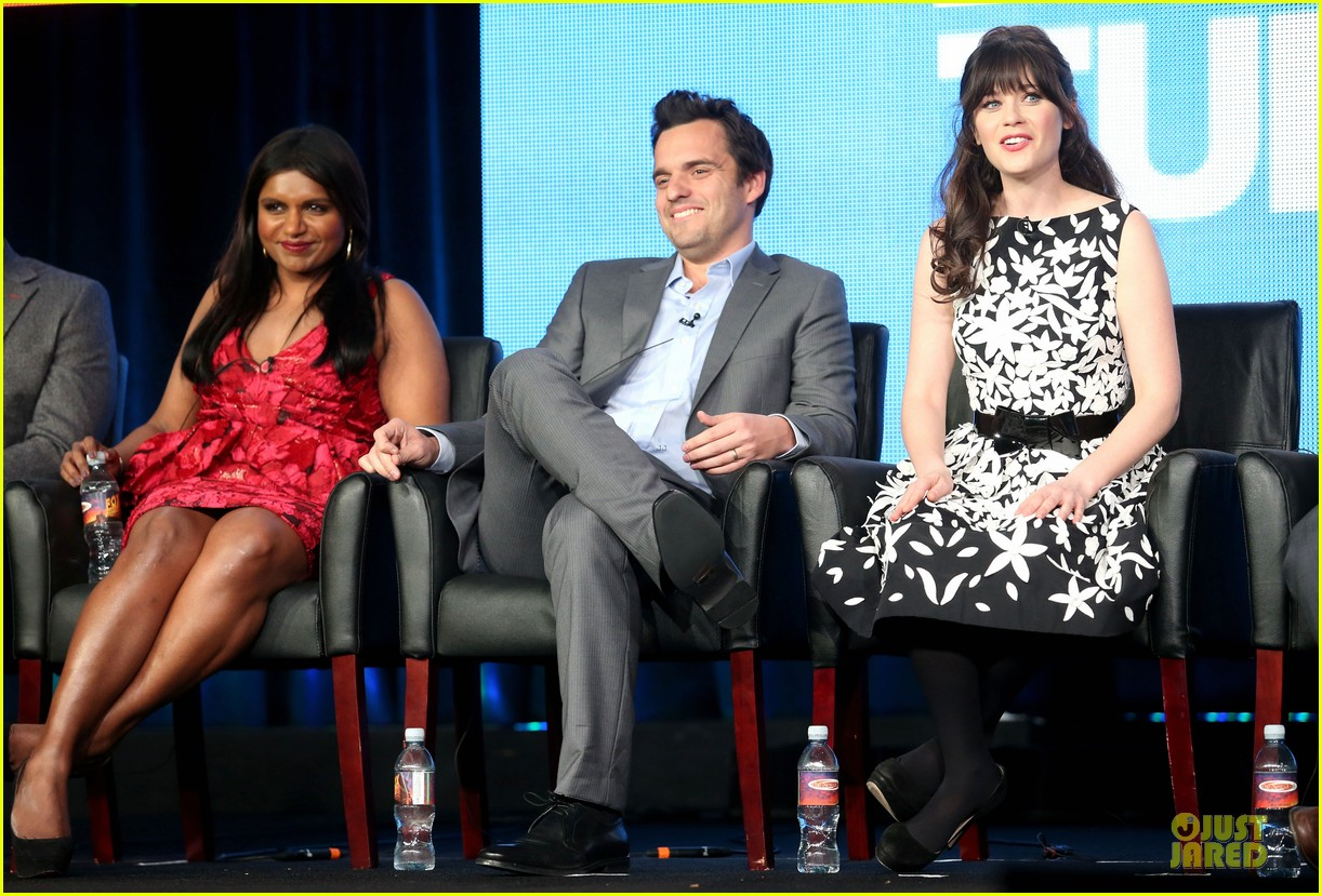 zooey deschane & mindy kaling new girl & mindy project panel 172787104