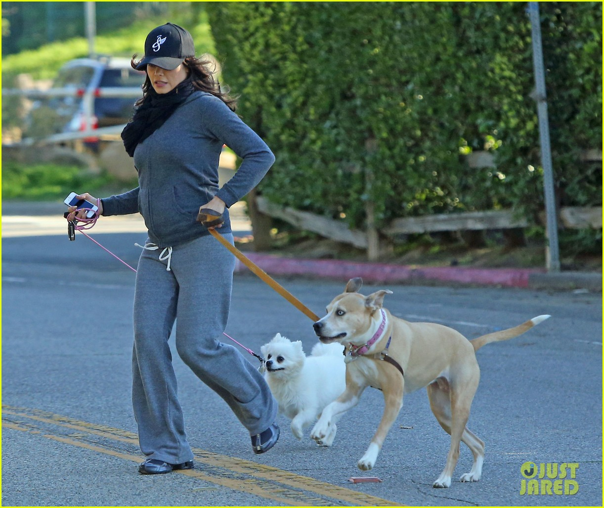 jenna dewan shows off growing baby bump on dog walk 042789749