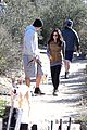 pregnant jenna dewan channing tatum hiking with the dogs 12