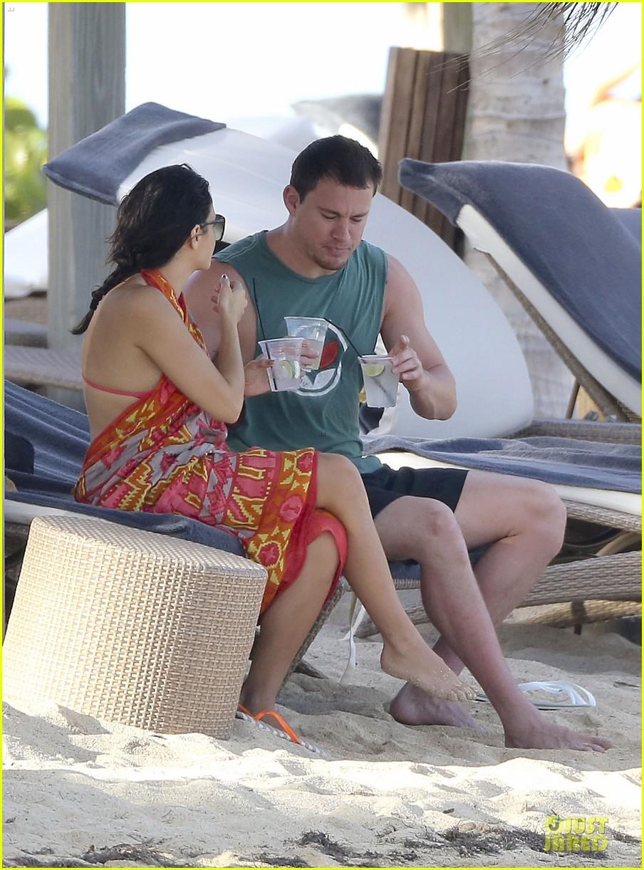 pregnant jenna dewan & channing tatum st barts kissing pair 332783263