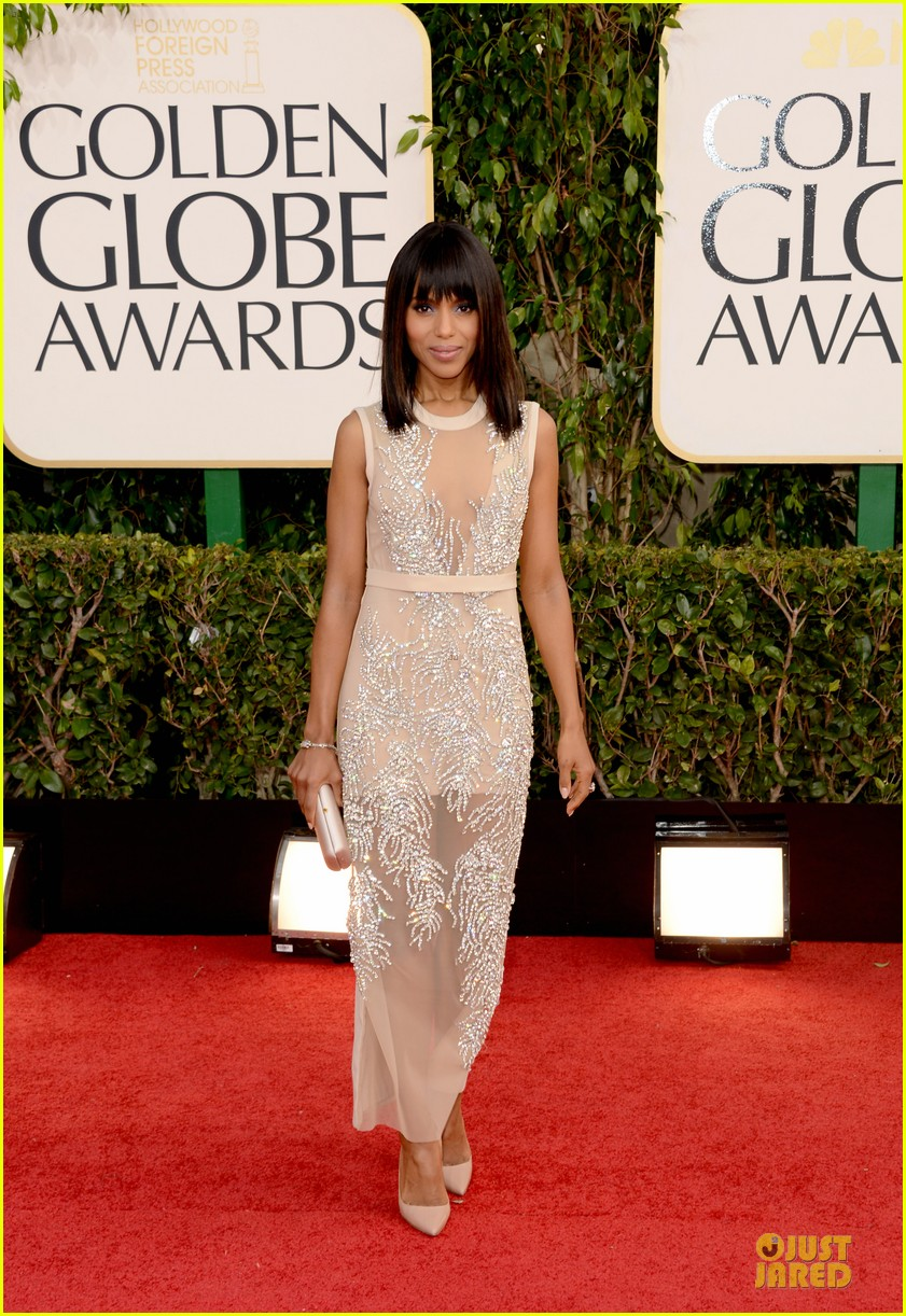 leonardo dicaprio kerry washington golden globes 2013 red carpet 032791218