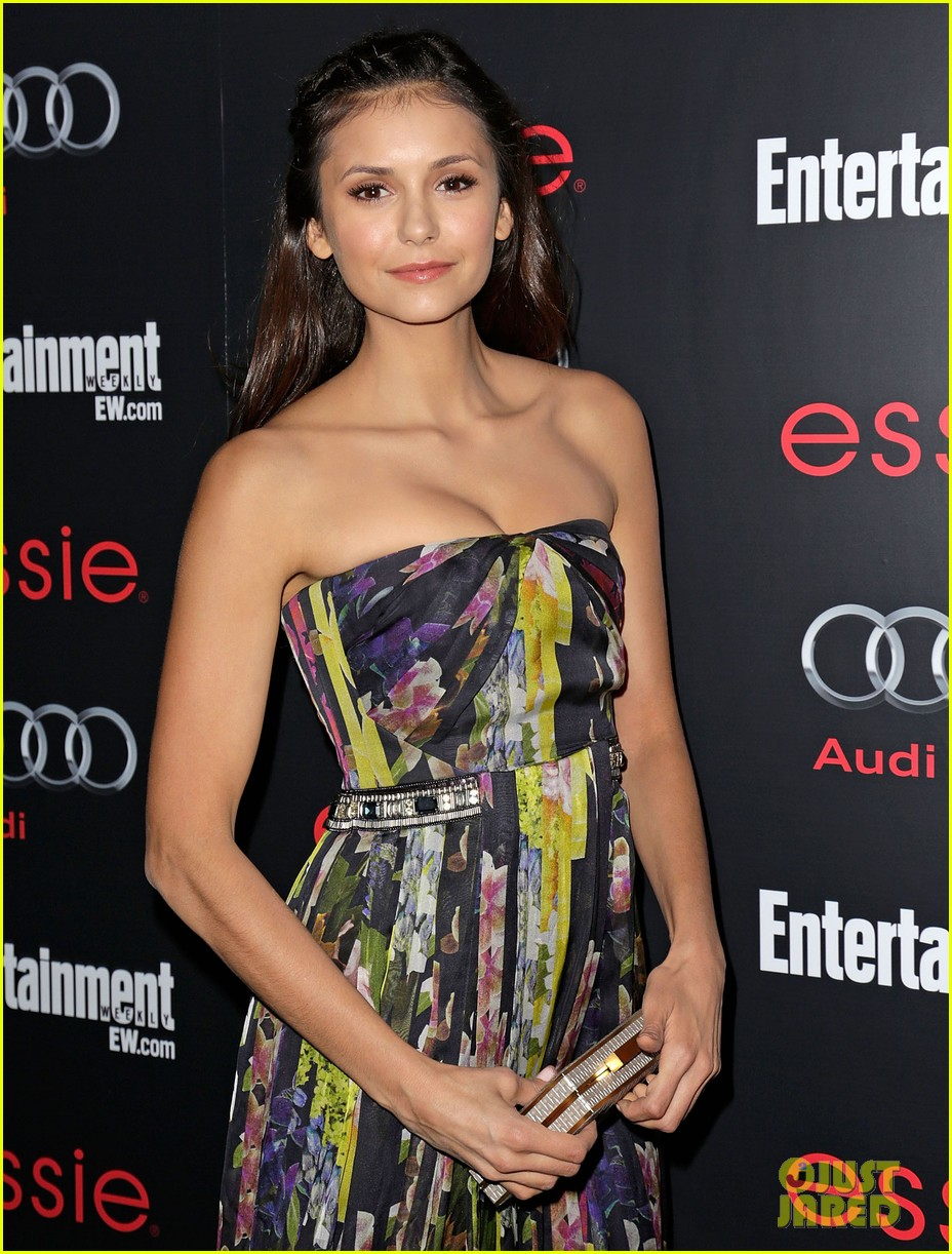 nina dobrev eliza coupe sag awards pre party arrival 14