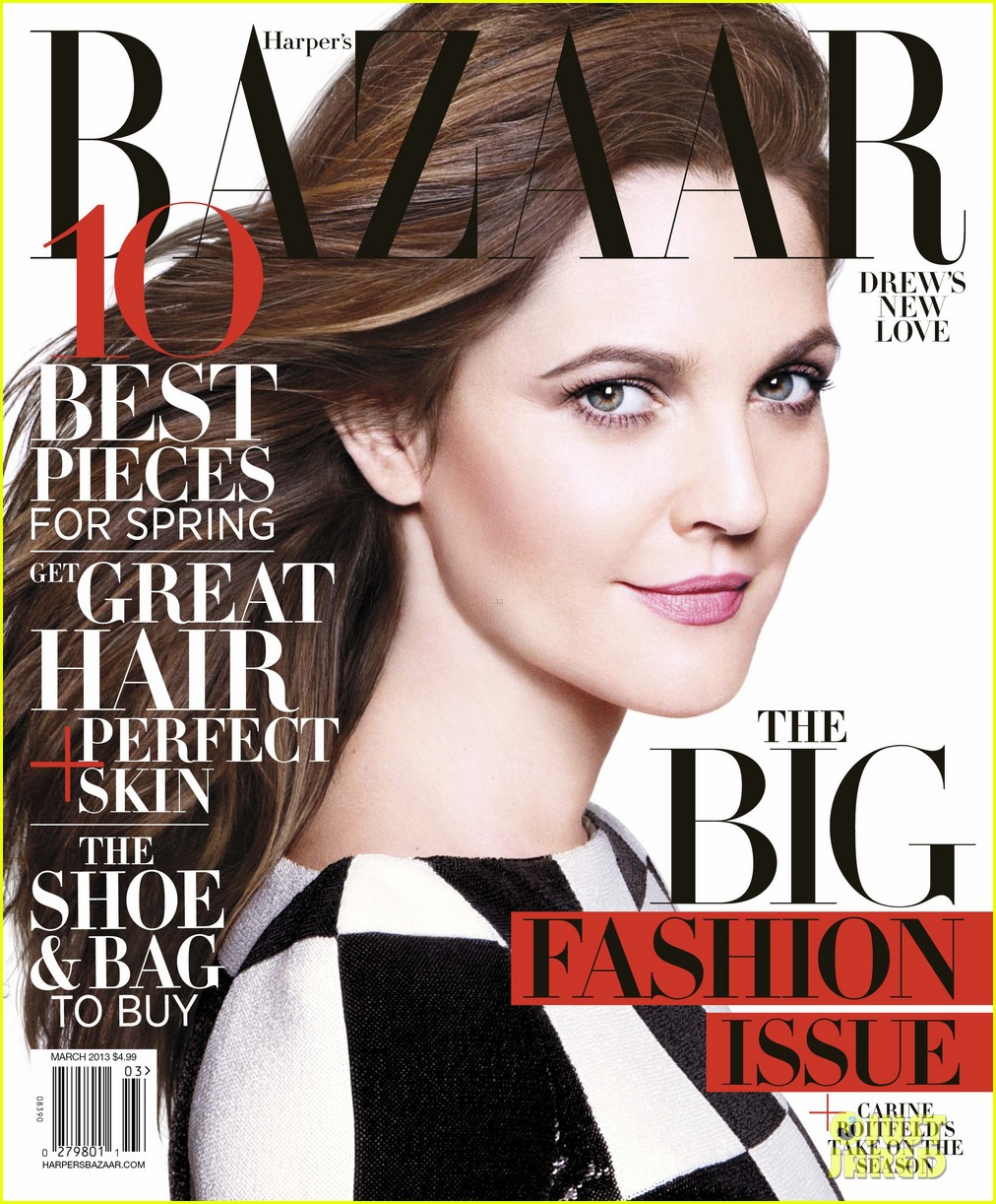 drew barrymore covers harpers bazaar march 2013 012801933