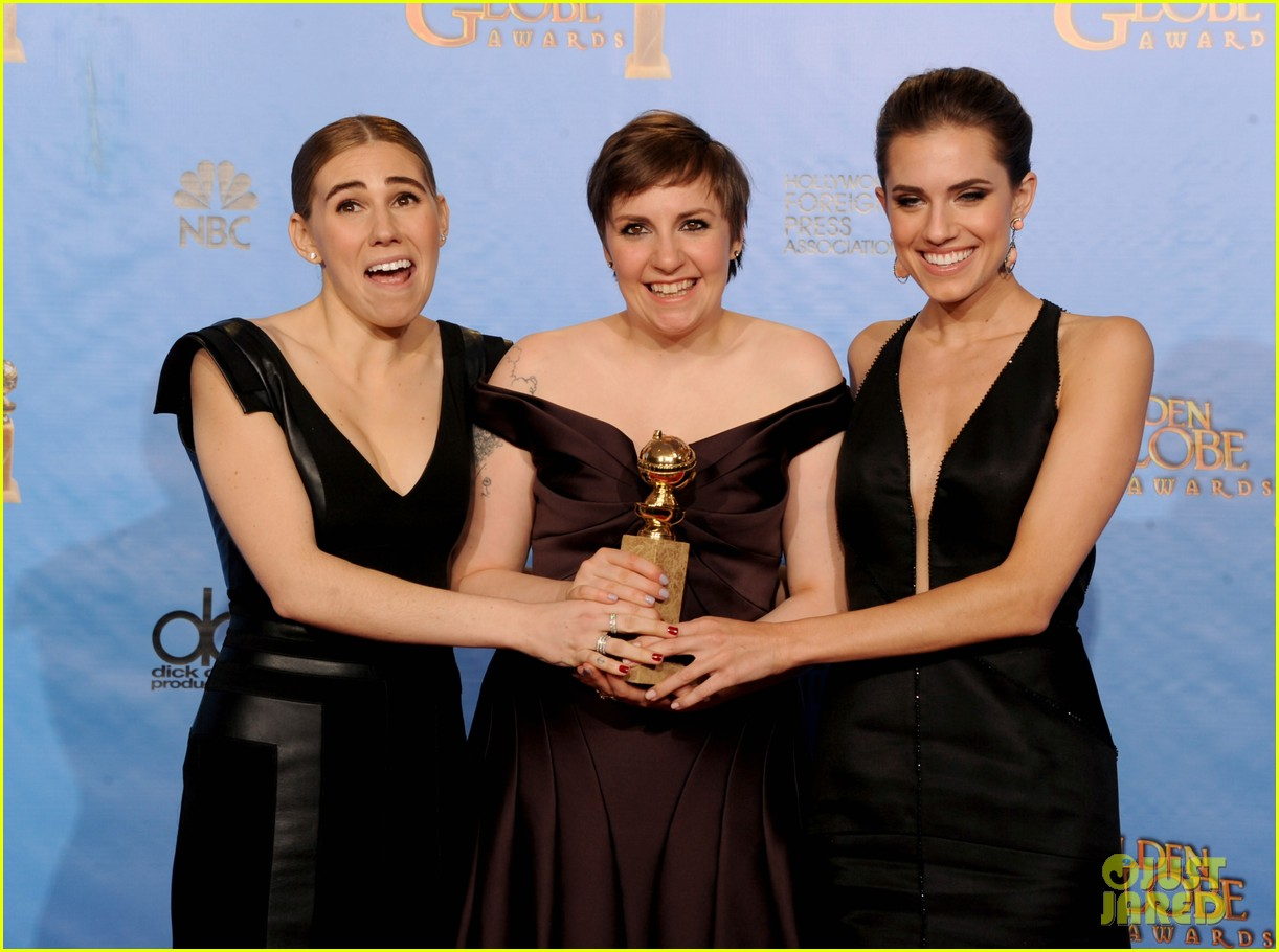 lena dunham girls wins best comedy series at golden globes 2013 12