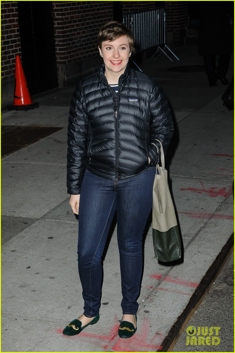 lena dunham allison williams letterman ladies 012788964