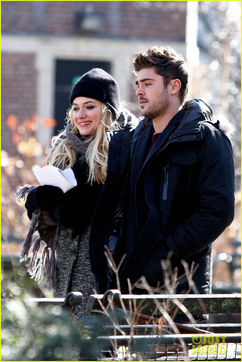 zac efron imogen poots park stroll for dating 02