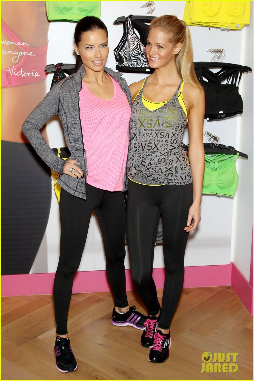 erin heatherton adriana lima victorias secret sport healthy year launch 142792739