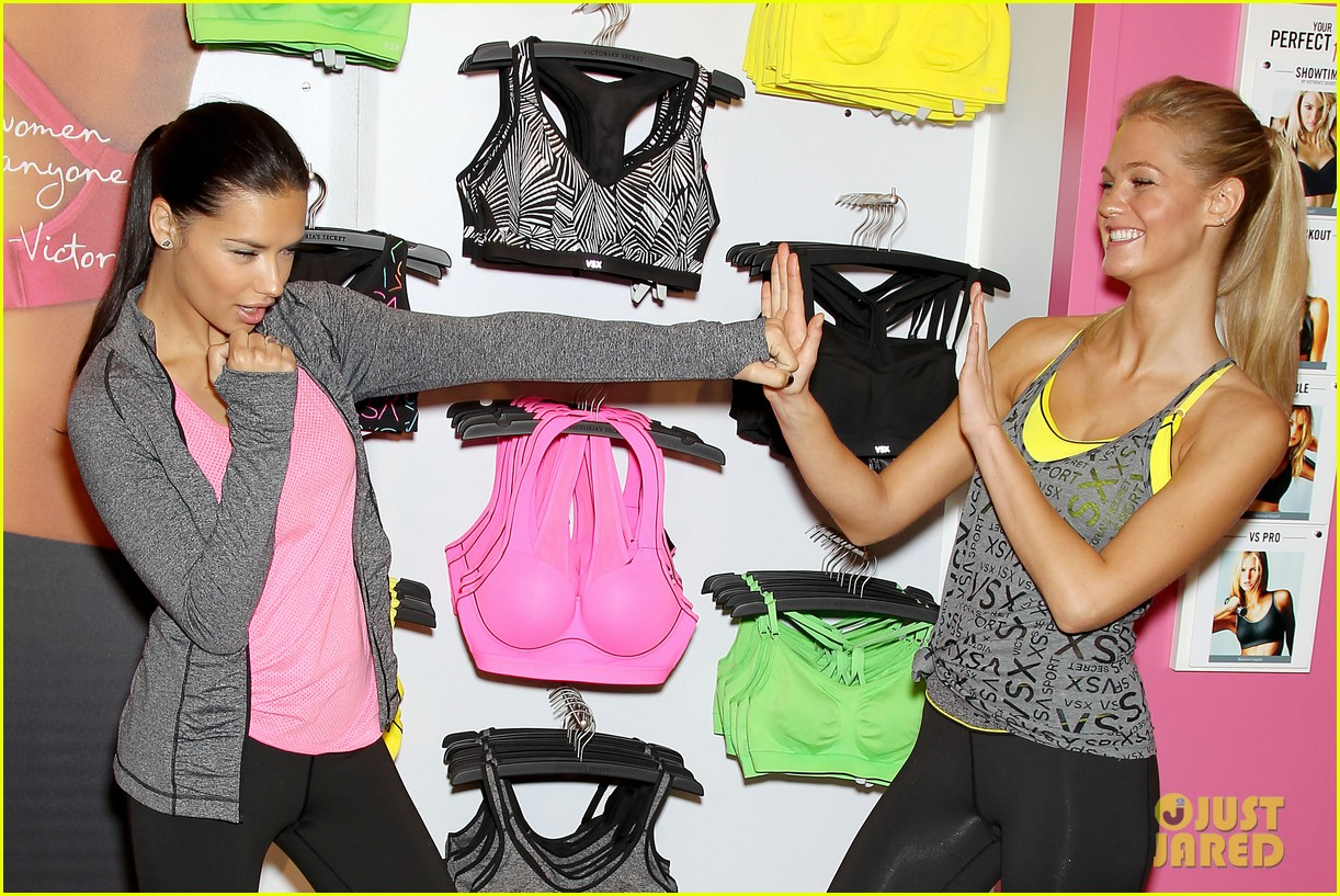 erin heatherton adriana lima victorias secret sport healthy year launch 242792749