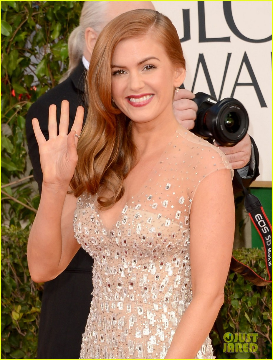 isla fisher golden globes 2013 red carpet 012790890