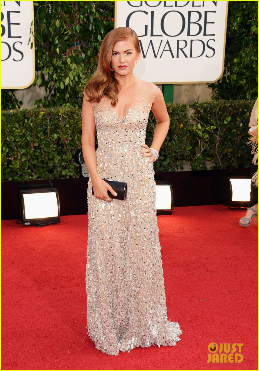 isla fisher golden globes 2013 red carpet 022790886