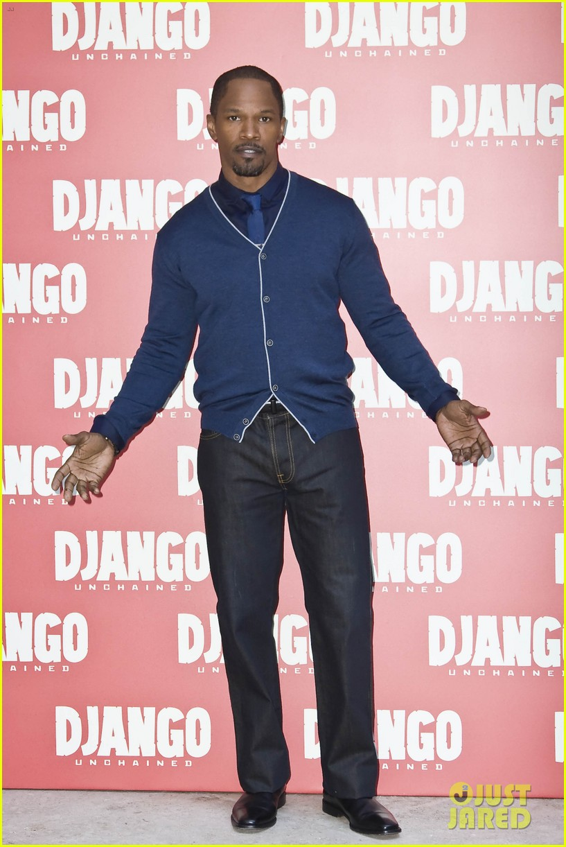 jamie foxx kerry washington django unchained rome photo call 022784636