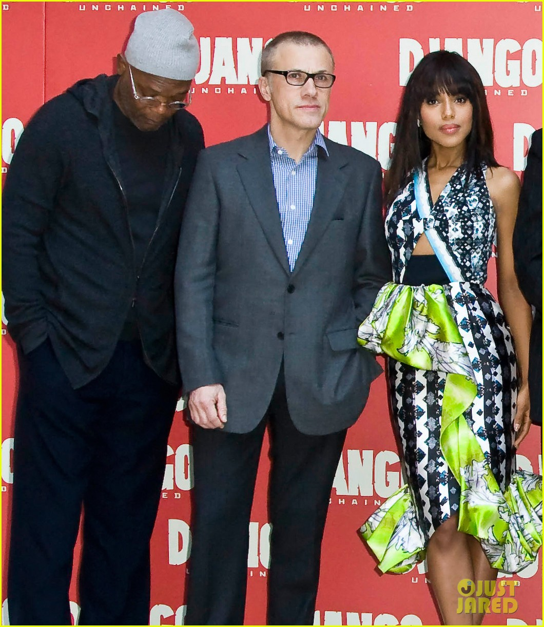 jamie foxx kerry washington django unchained rome photo call 042784638