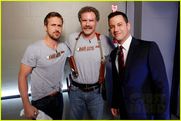 ryan gosling will ferrell knife guys for jimmy kimmel live 01