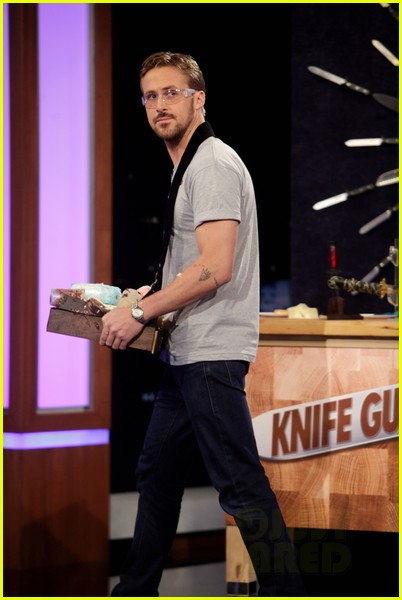 ryan gosling will ferrell knife guys for jimmy kimmel live 022788306