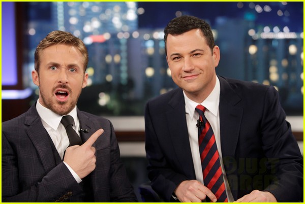 ryan gosling will ferrell knife guys for jimmy kimmel live 042788308