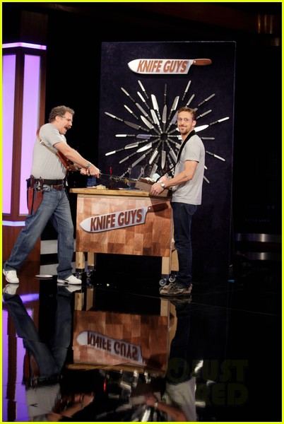 ryan gosling will ferrell knife guys for jimmy kimmel live 082788312