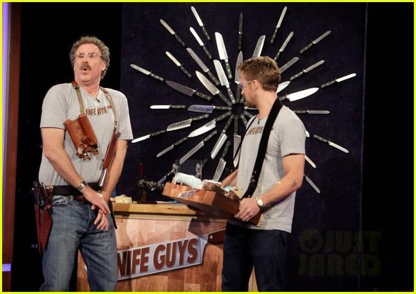 ryan gosling will ferrell knife guys for jimmy kimmel live 102788314