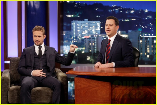 ryan gosling will ferrell knife guys for jimmy kimmel live 122788316