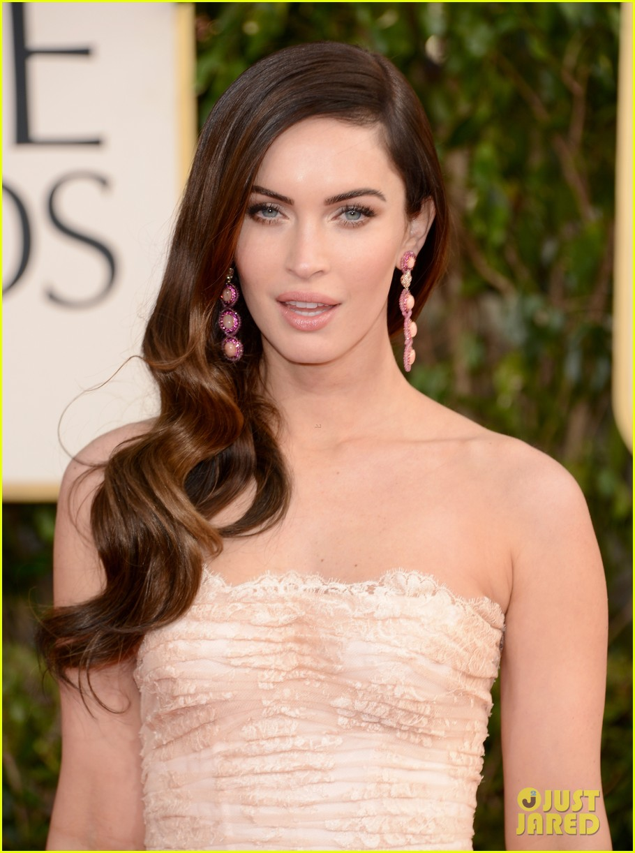 megan fox golden globes 2013 red carpet with brian austin green 032790846