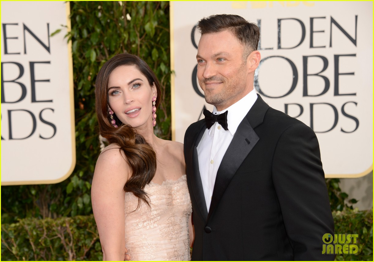 megan fox golden globes 2013 red carpet with brian austin green 04
