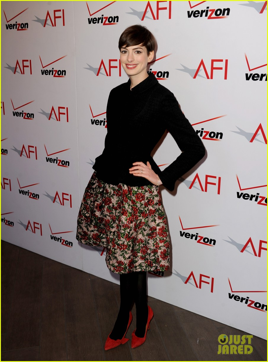 anne hathaway afi awards 2013 red carpet 012789105