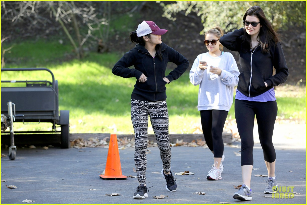 vanessa hudgens studio city hike with stella 122787050