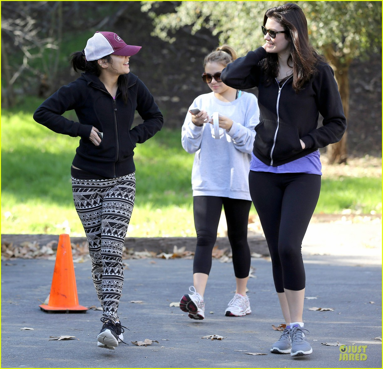 vanessa hudgens studio city hike with stella 132787051