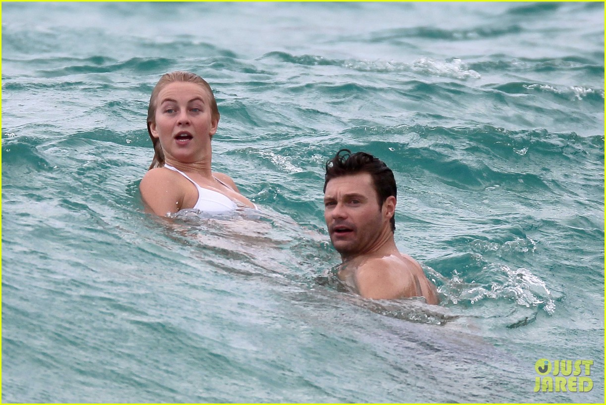 julianne hough bikini swimming with shirtless ryan seacrest 222784751