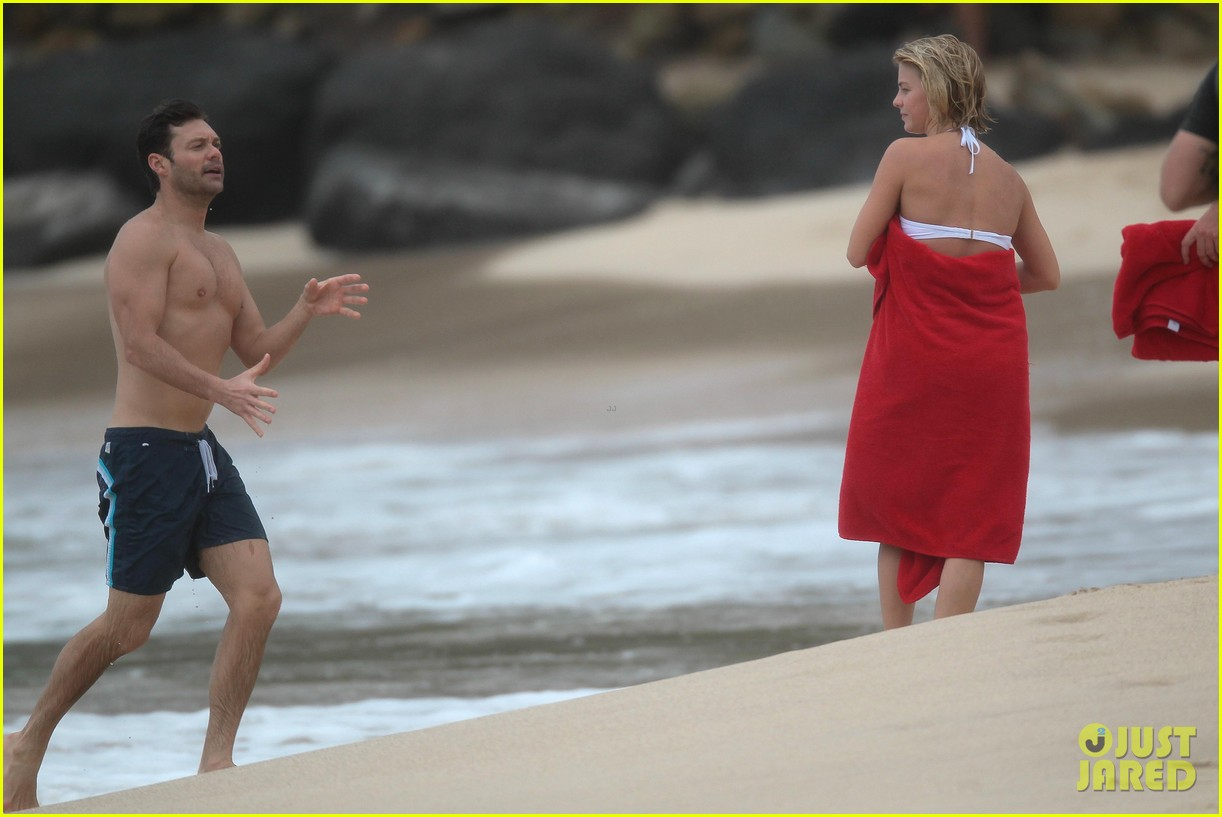 julianne hough bikini swimming with shirtless ryan seacrest 38