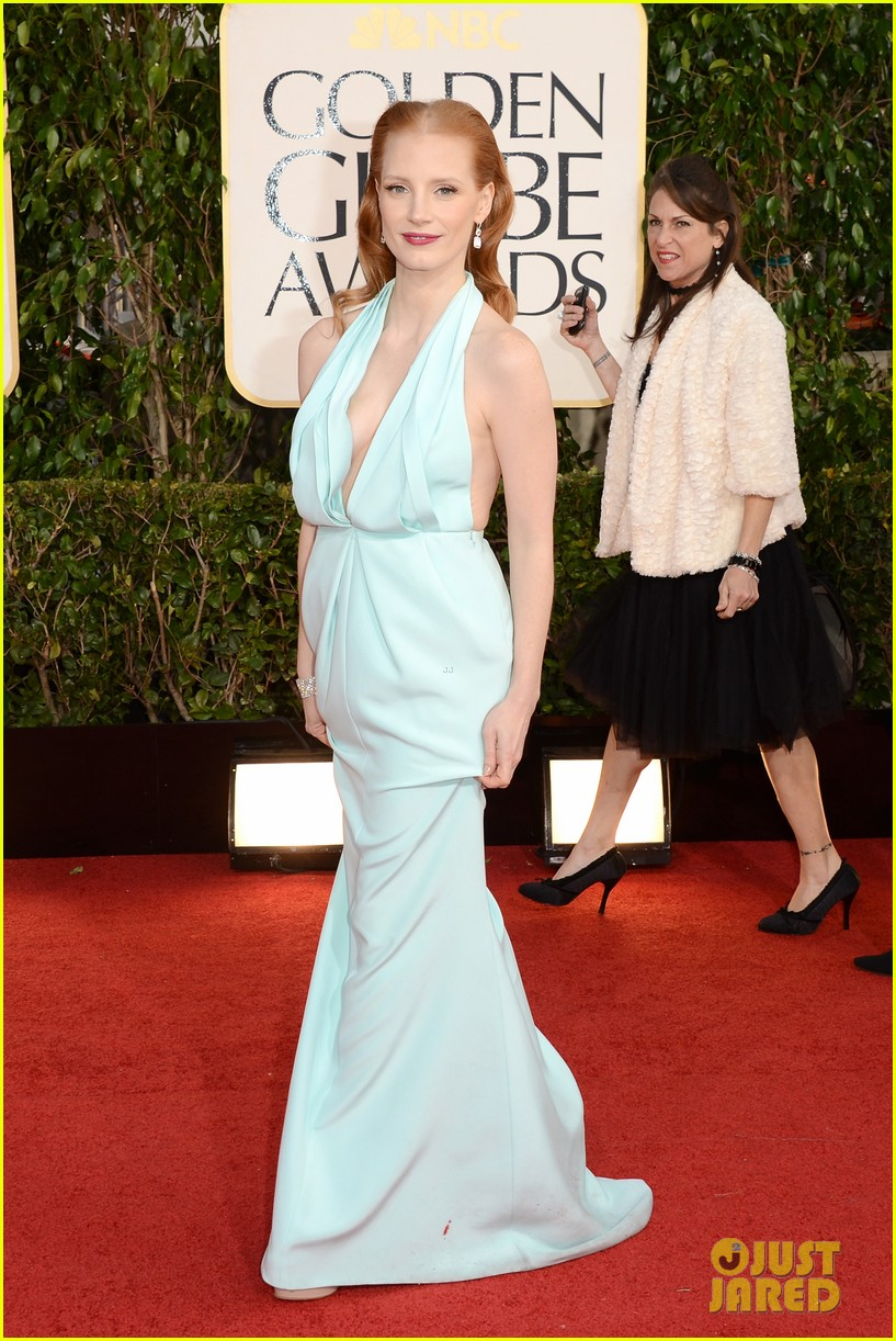 jessica chastain golden globes 2013 red carpet 022790956