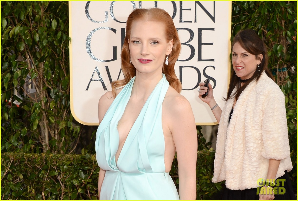 jessica chastain golden globes 2013 red carpet 042790958
