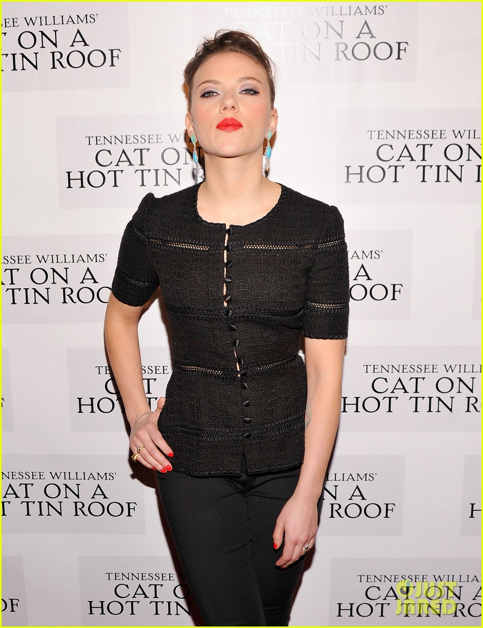 scarlett johansson cat on a hot tin roof opening party 162794076