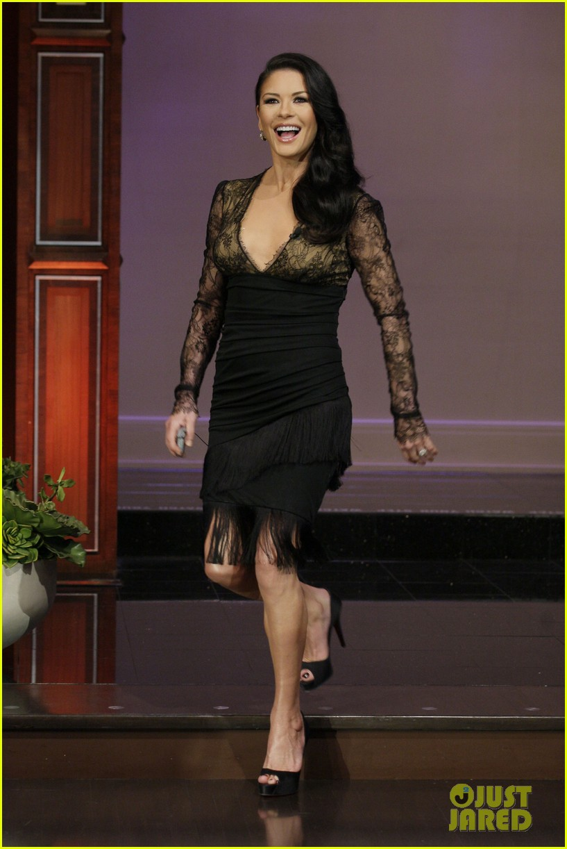 catherine zeta jones tonight show with jay leno visit 02