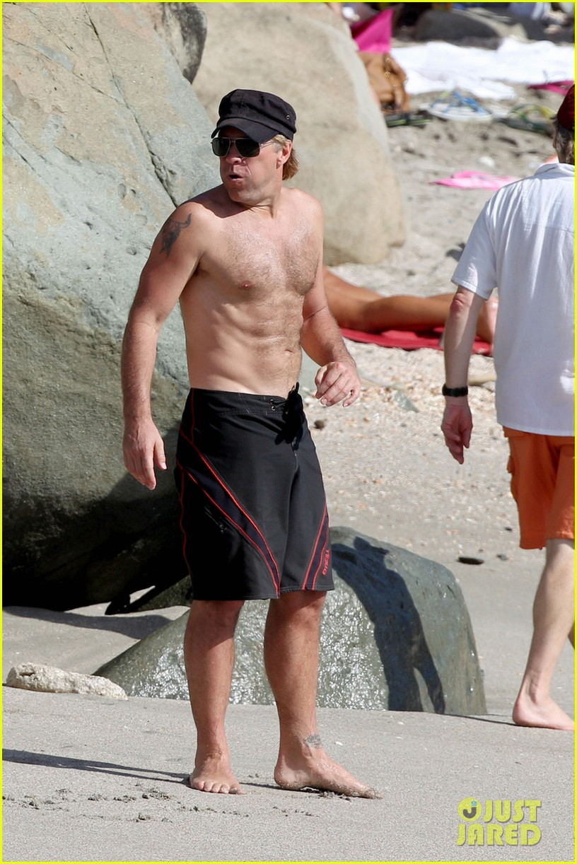 jon bon jovi shirtless st barts stud 022784516
