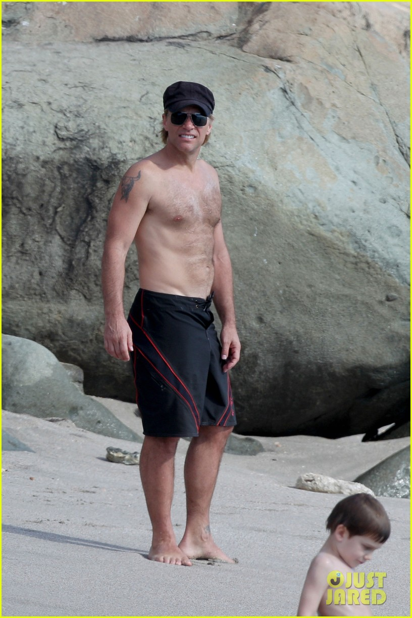 jon bon jovi shirtless st barts stud 062784520