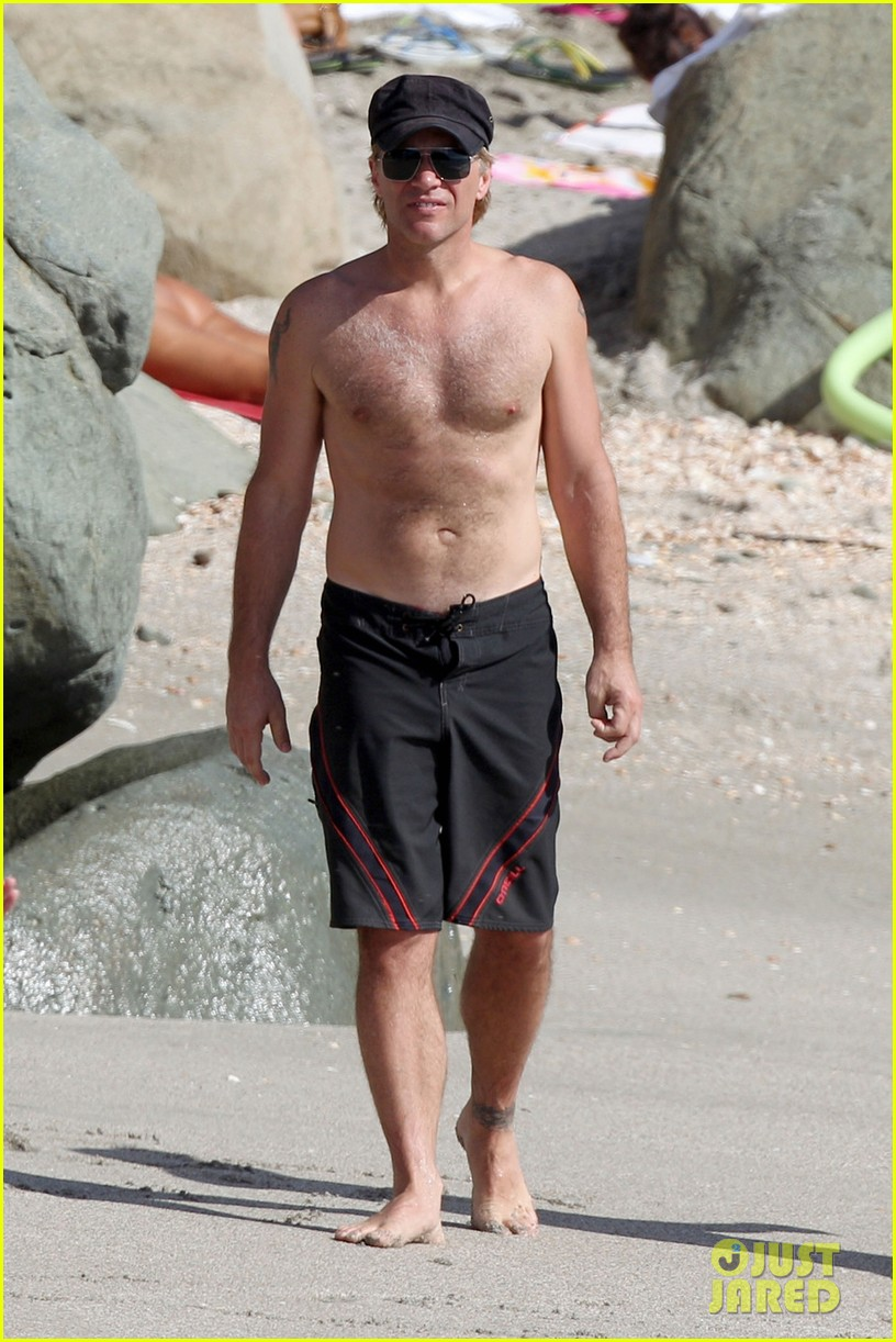 jon bon jovi shirtless st barts stud 072784521