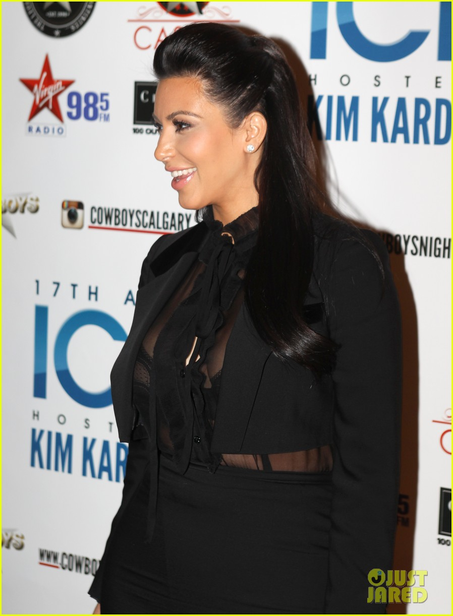 pregnant kim kardashian sheer top at iced event 062785087