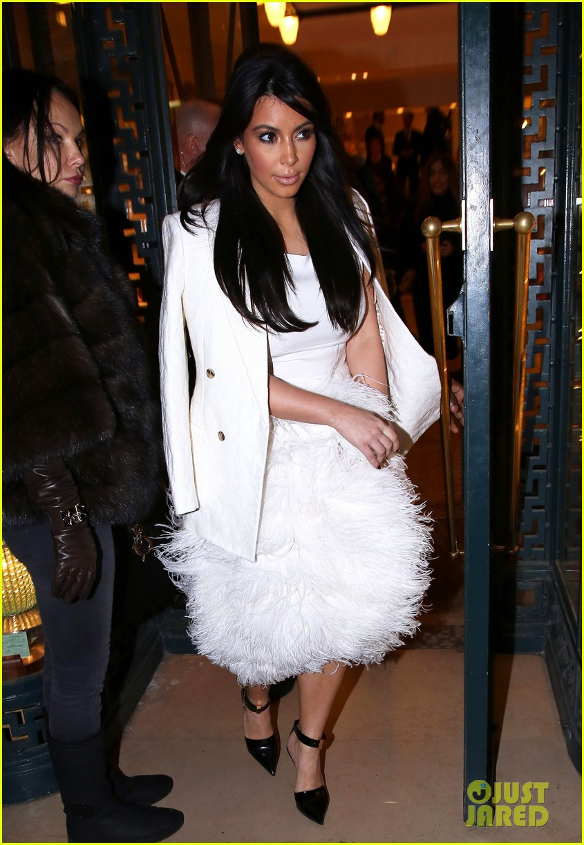 kim kardashian kanye west day off in paris 01