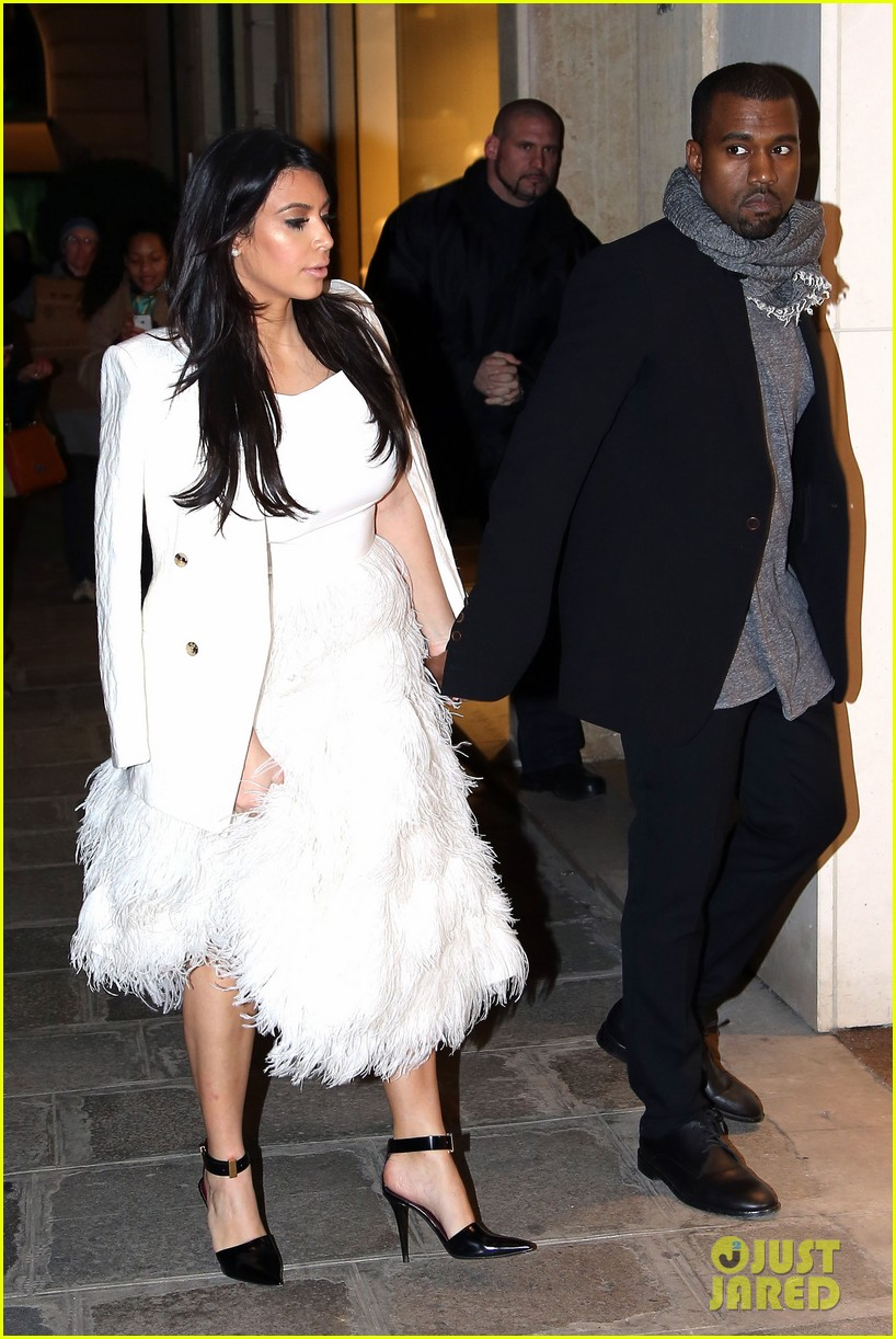 Kim Kardashian & Kanye West: Day Off in Paris!: Photo