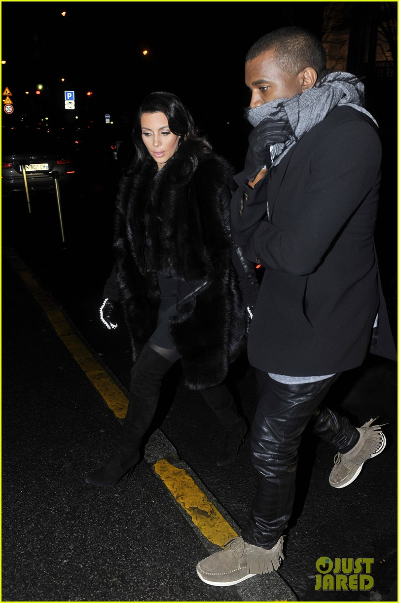 kim kardashian kanye west perfect night in paris 16