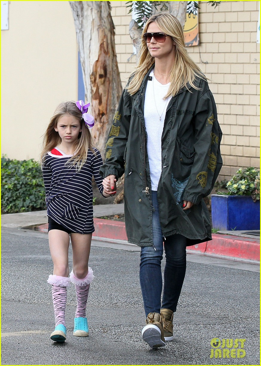 heidi klum martin kirsten family day with the kids 02