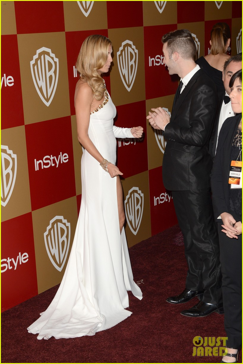 heidi klum golden globes 2013 red carpet 05