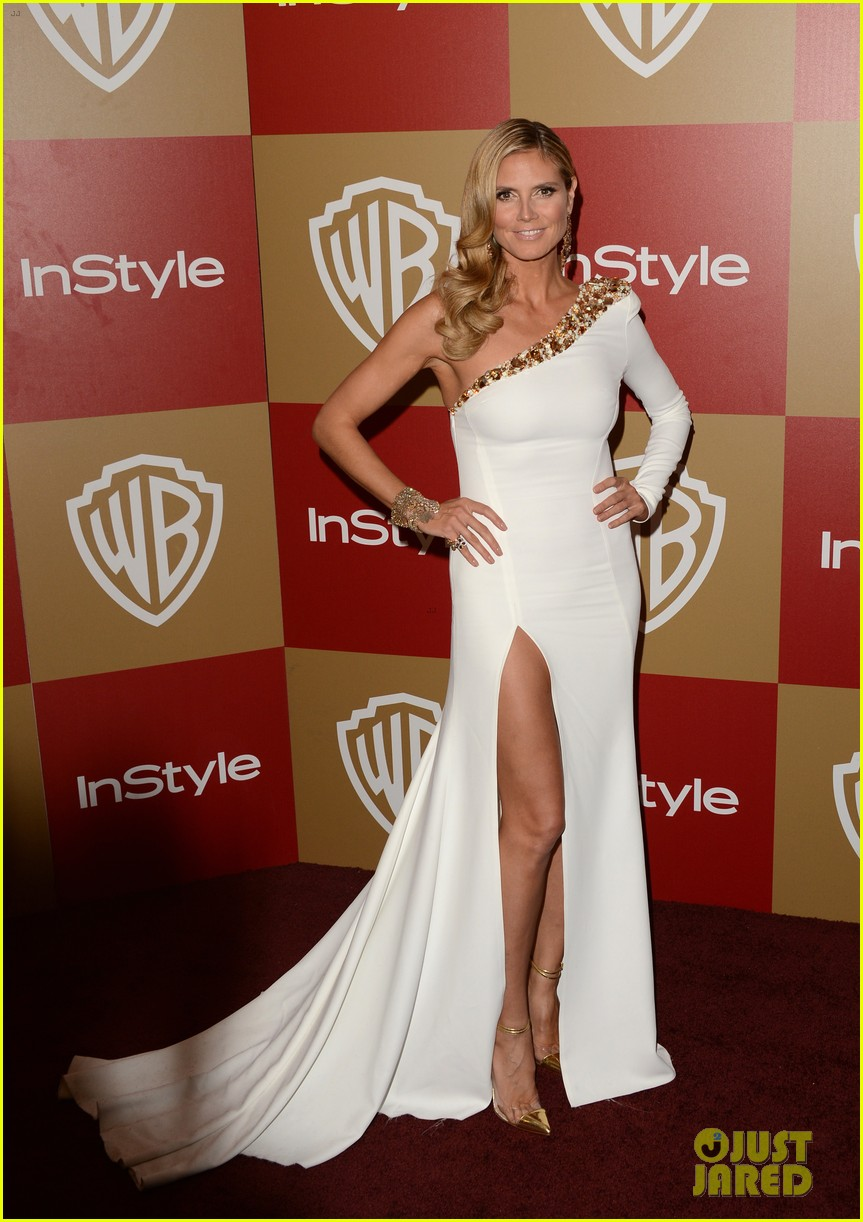 heidi klum golden globes 2013 red carpet 072791800