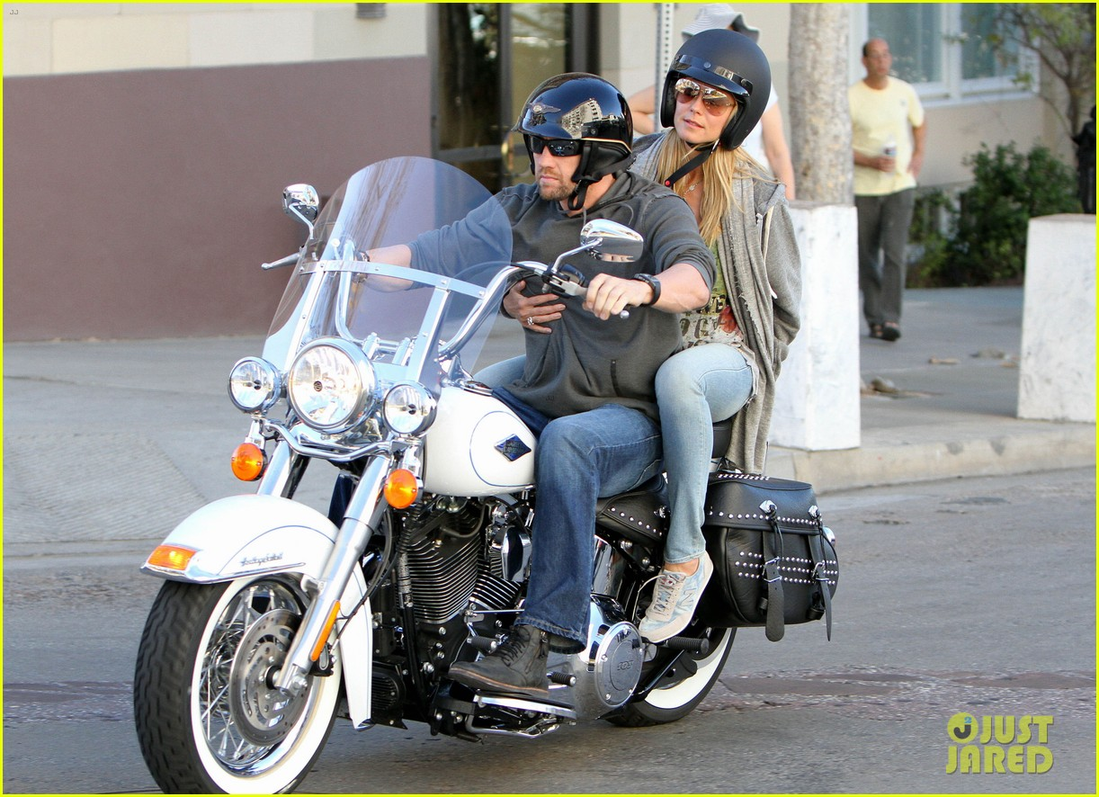 heidi klum martin kirsten motorcycle couple 01