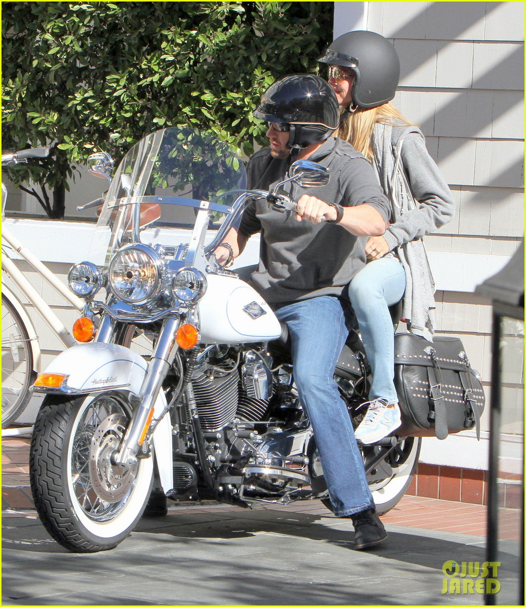 heidi klum martin kirsten motorcycle couple 122795653