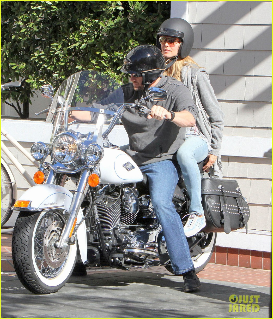 heidi klum martin kirsten motorcycle couple 132795654