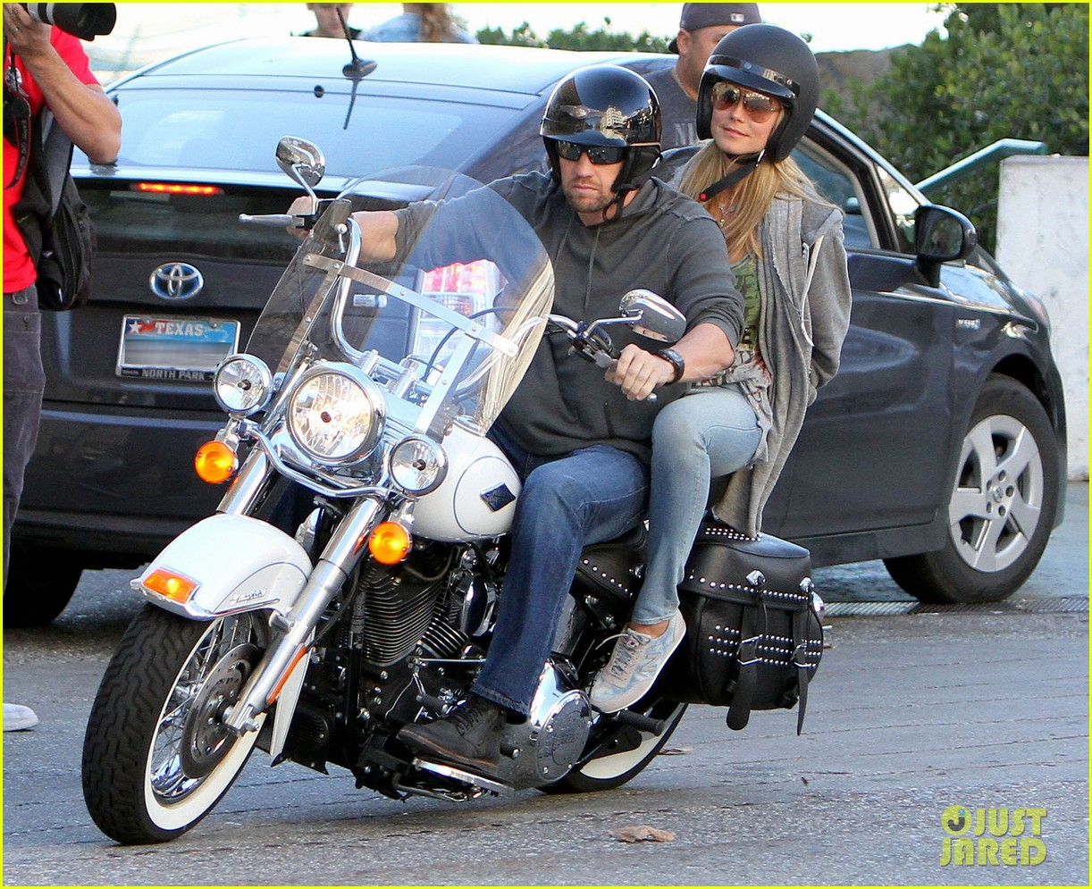 heidi klum martin kirsten motorcycle couple 182795659
